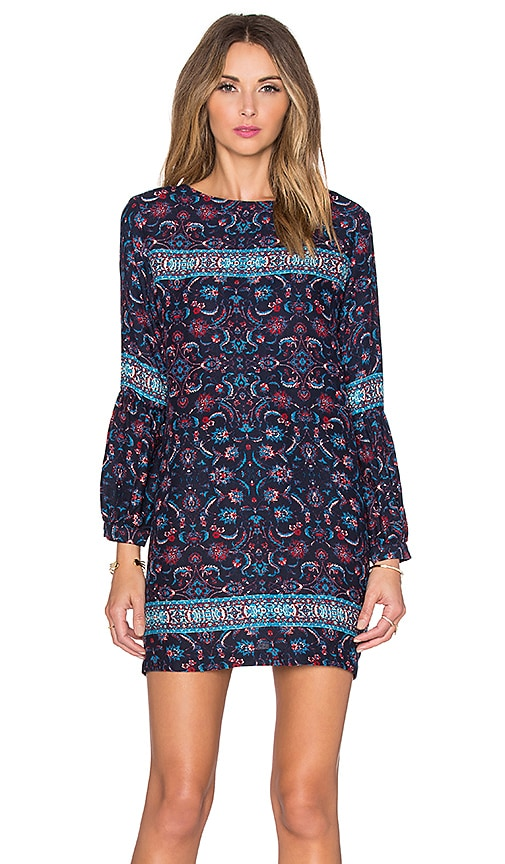 Gypsy 05 Lace Up Back Mini Dress in Navy