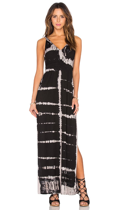 High Side Slits Twisted Strap Maxi Dress