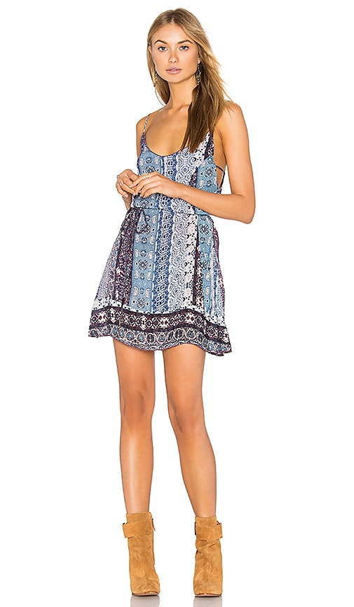Gypsy 05 Spaghetti Strap Mini Dress in Blue