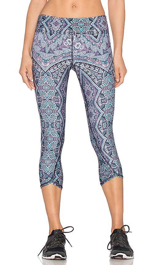 Gypsy 05 Physique Crop Legging in Navy Multi
