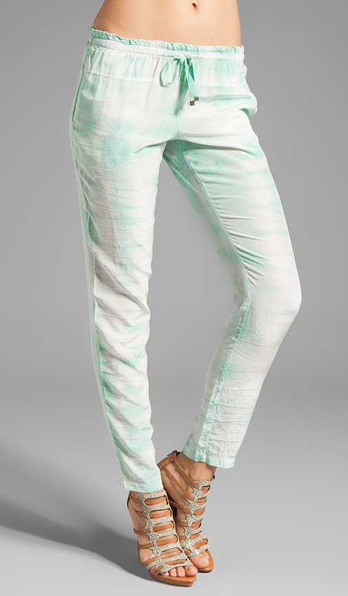 Punta Cana Tapered Drawstring Silk Pant