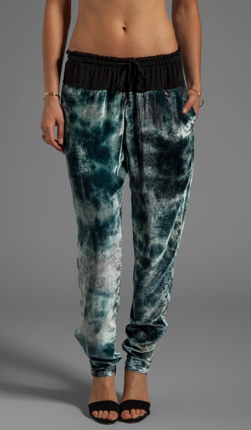Velvet Tapered Drawstring Pant