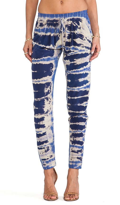 Silk Elastic Waist Pants