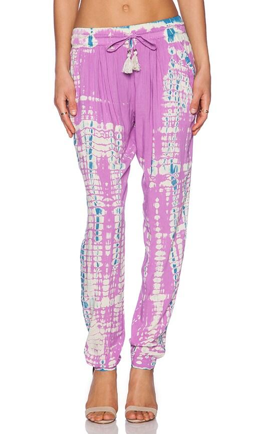 Gypsy 05 Drawstring Pant in Violet & Caribbean Blue
