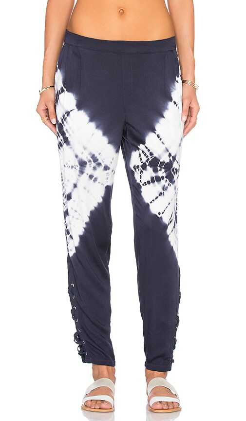 Gypsy 05 Lace Up Ankle Pant in Blue