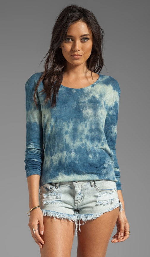 Foundation Long Sleeve Square Linen Top