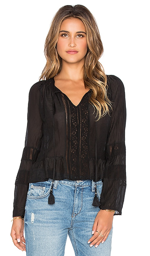 Gypsy 05 Romanian Lace Blouse in Black
