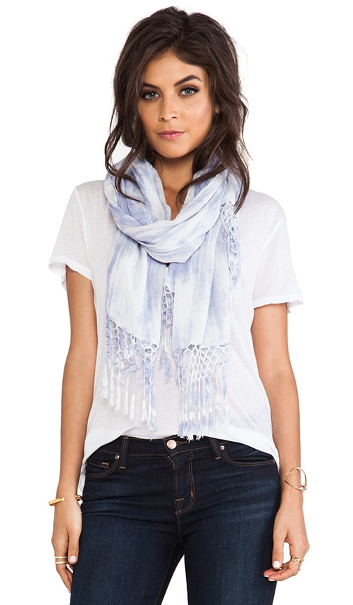 3 Color Mix Fringe Scarf
