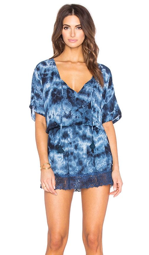 Gypsy 05 Dolman Sleeve Mini Dress in Blue