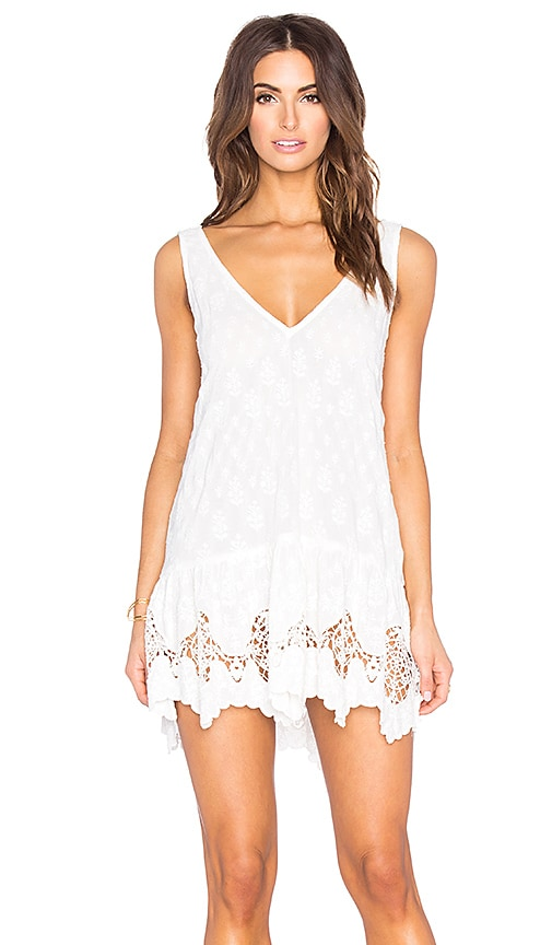 Gypsy 05 Embroidered Mini Dress in White