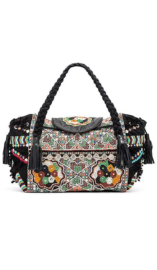 Gypsy 05 Moga Top Handle Bag in Black