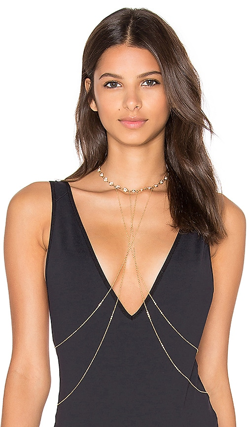 Haati Chai Viya Body Chain in Metallic Gold