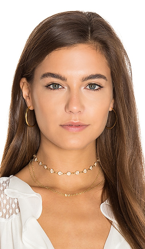 Haati Chai Valery Choker in Metallic Gold