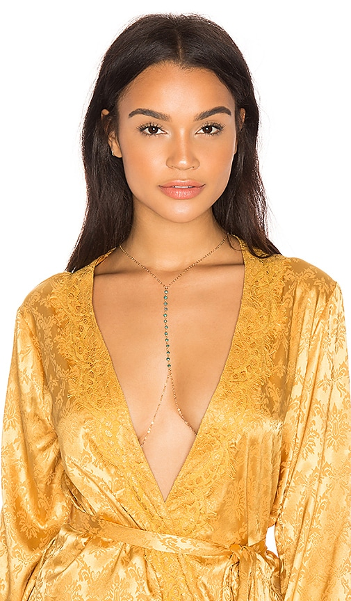 Haati Chai Linga Body Chain in Metallic Gold