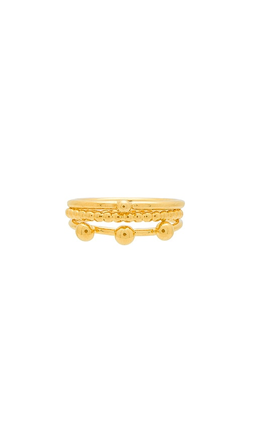 Haati Chai Ring Set in Metallic Gold