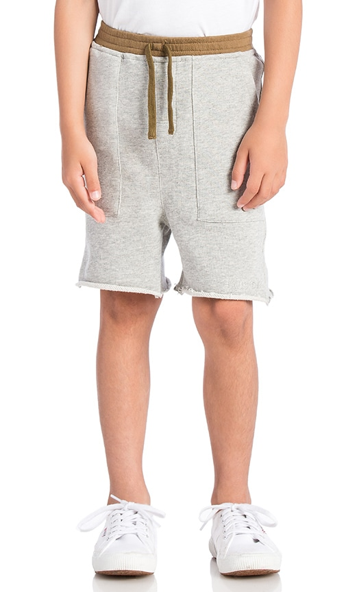 Haus of JR Drop Crotch Peanut Short in Grey