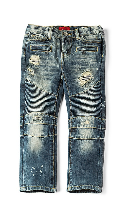 Clayton Distressed Biker Jean