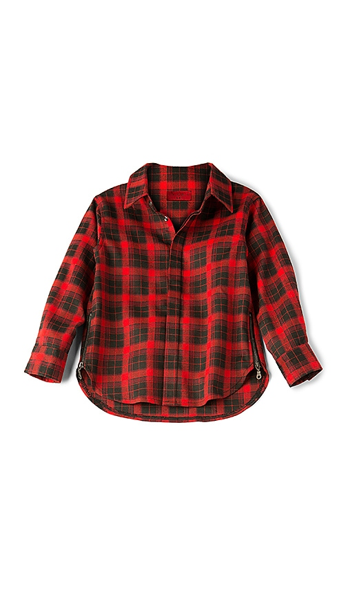 Haus of JR Chris Flannel Shirt in Red