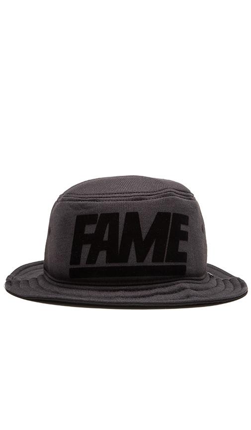 Hall of Fame Block Foam Bucket Hat in Black Heather