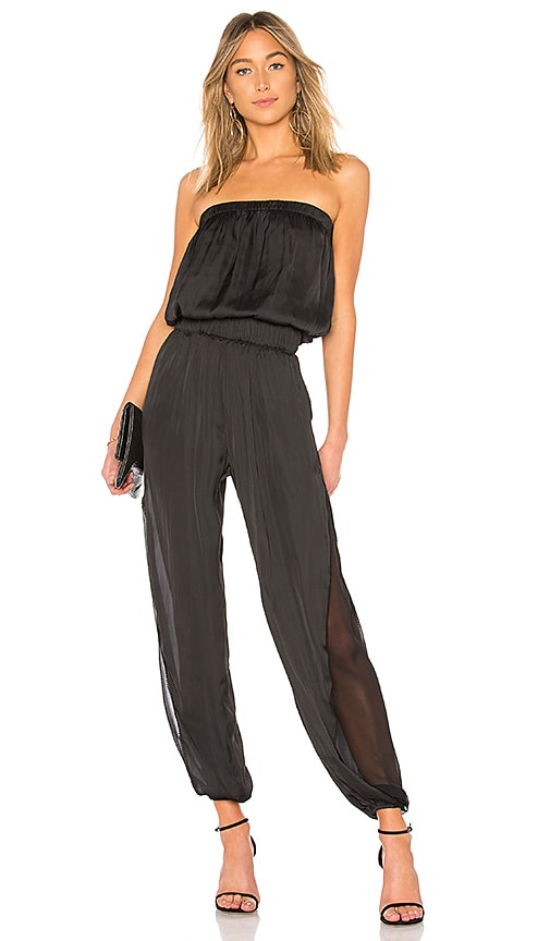 ef79b964826 Strapless Ruched Jumpsuit. Strapless Ruched Jumpsuit. Halston Heritage
