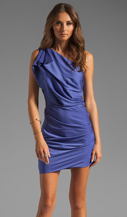 One Shoulder Dress With Asymmetrical Hem