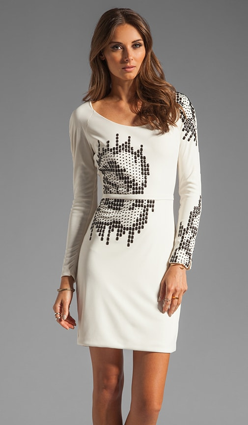 Round Neck Embellished Dress