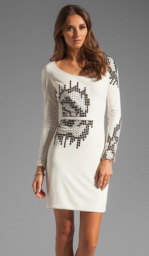 Round Neck Embellished Dress