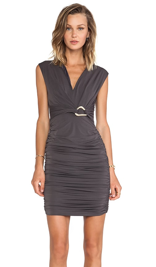 Mockneck Dress with Front Slit