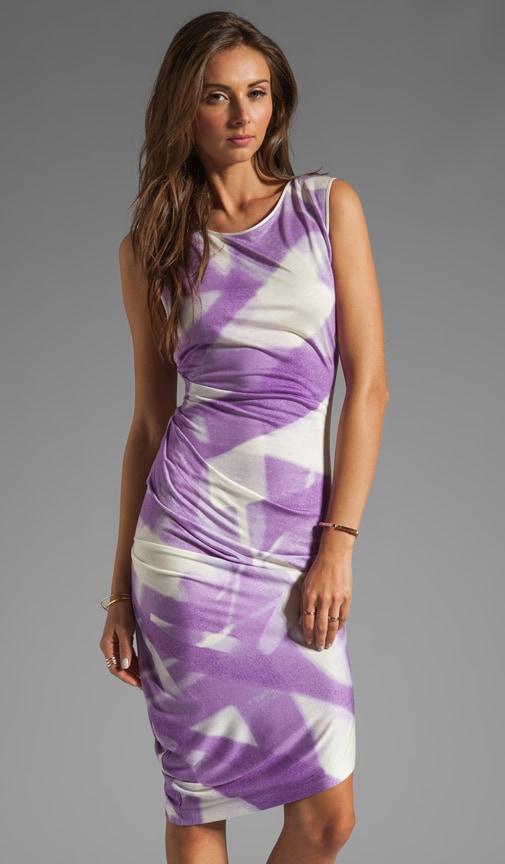 Asymmetrical Hem Crewneck Dress