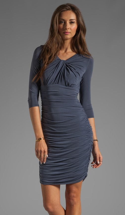 Knot Front Ruched Dress