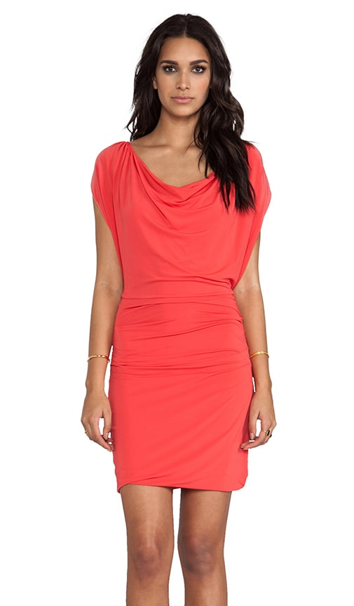 Cap Sleeve Overlay Dress With Draped Waist