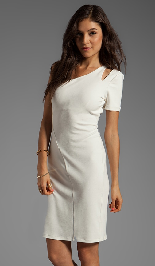 One Sleeve Dress With Shoulder Cut Out