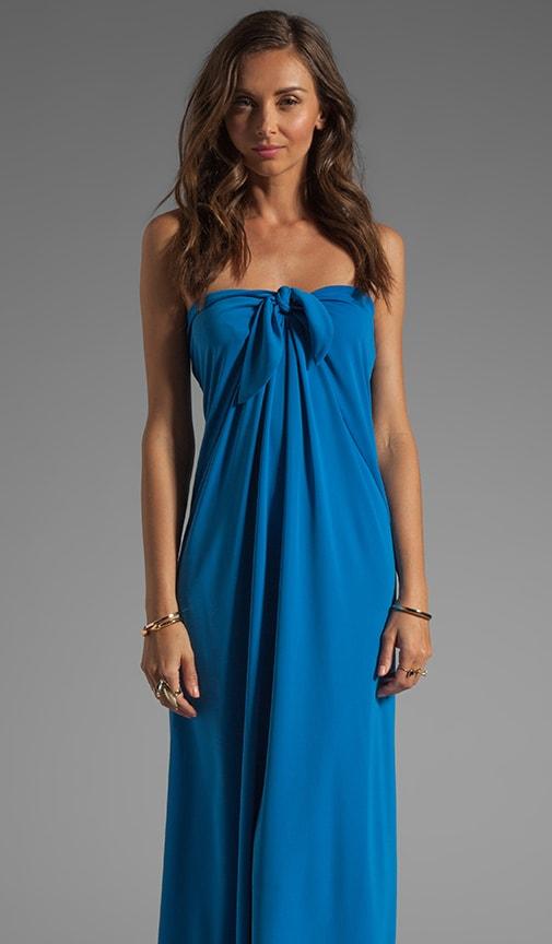 Center Tie Strapless Gown