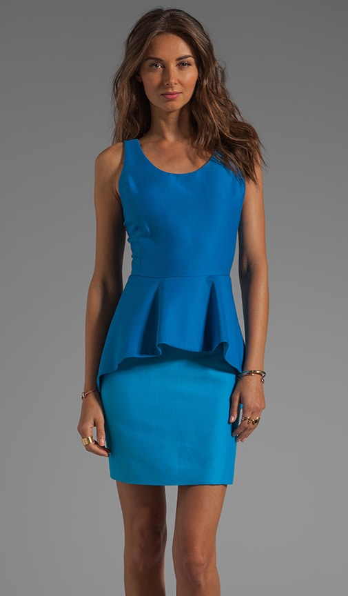 Colorblock Peplum Sheath Dress