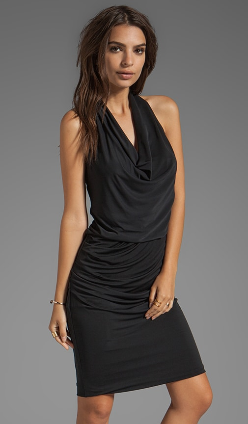 Draped Front Halter Dress