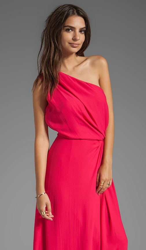 One Shoulder Ruched Side Gown