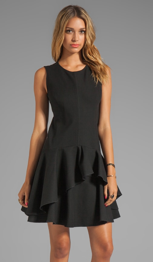 Sleeveless Scoop Neck Ponte Dress