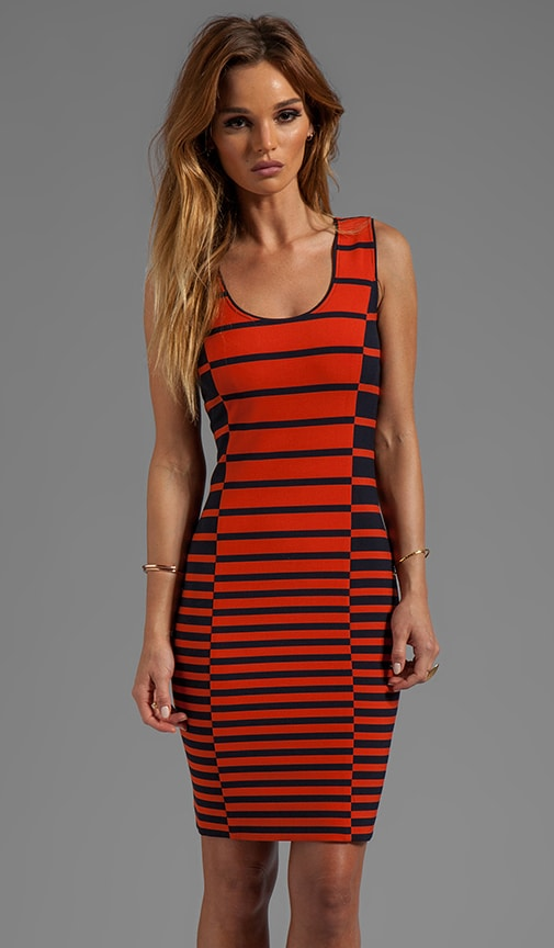 Sleeveless Stripe Tank Dress