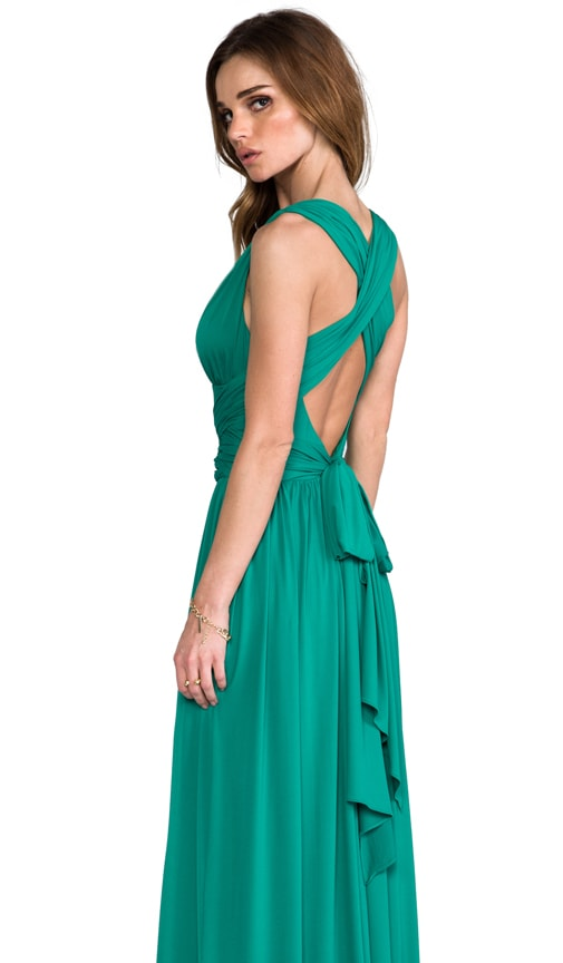 V-Neck Gown with Crisscross Waist