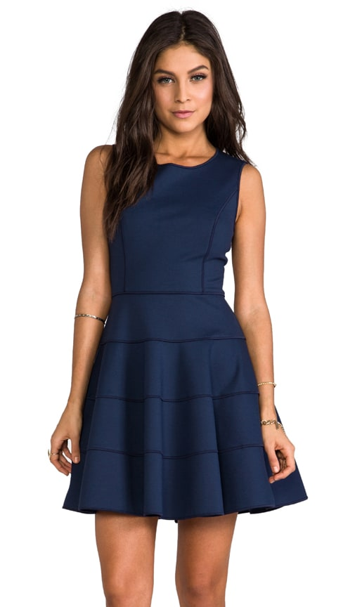 Ponte Dress with Flare Skirt