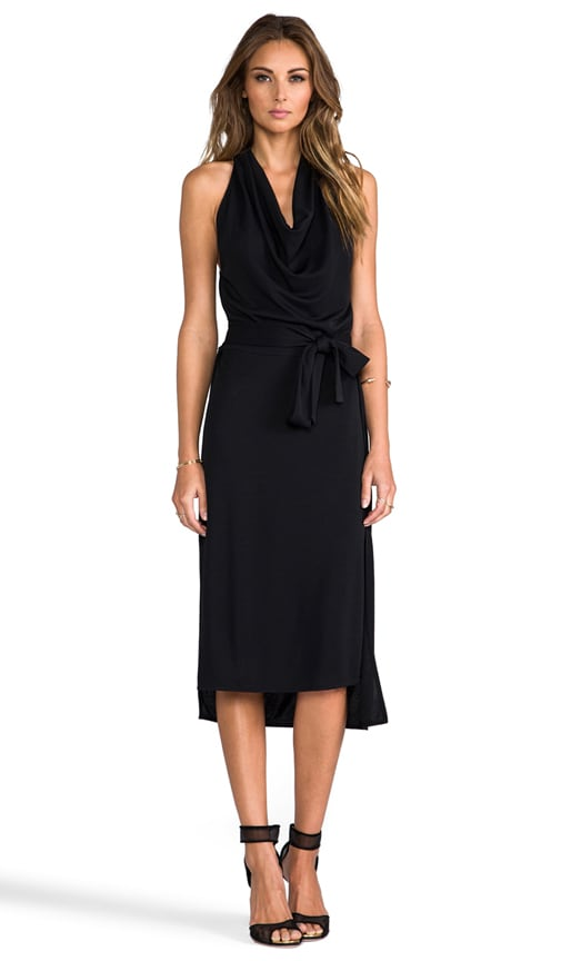 Halter Cowl Neck Dress
