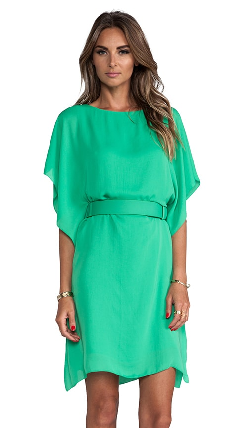 Boatneck Belted Dress