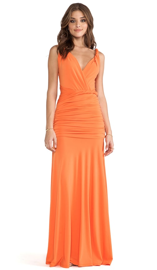Ruched Maxi Gown