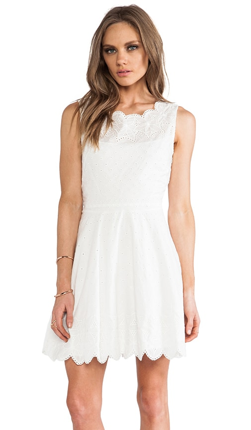 Flare Eyelet Embroidery Dress