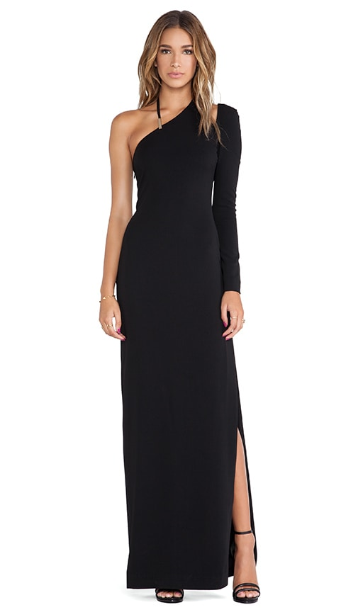 Asymmetric Neck Gown