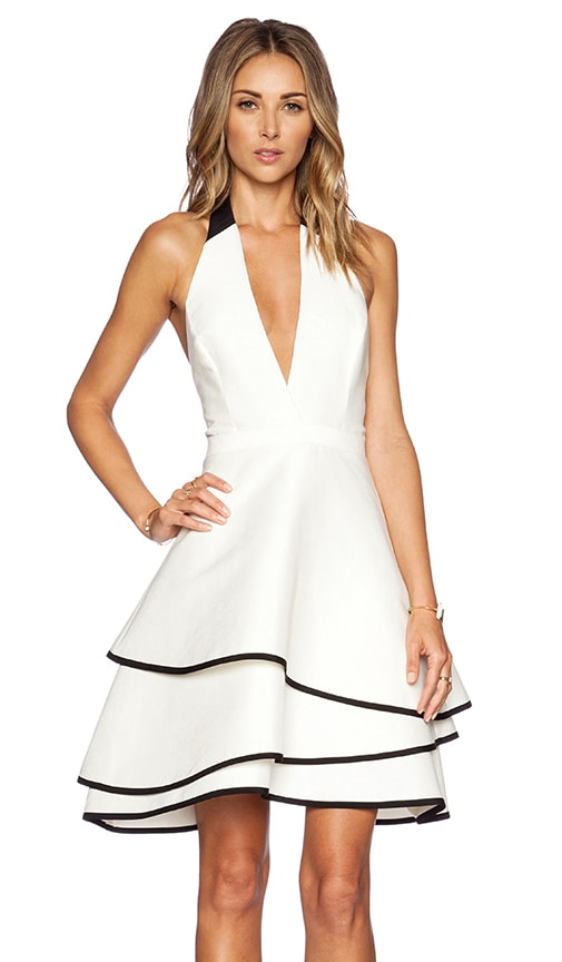 Layered Halter Dress Halston Heritage