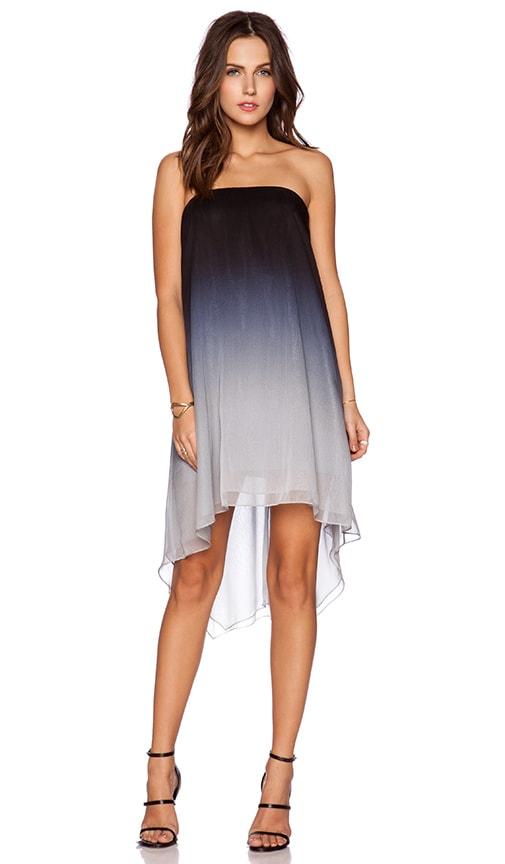 Halston Heritage Strapless Dress in Mist Ombre