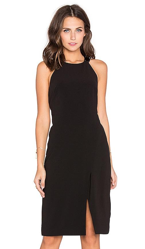 Halston Heritage T Back Halter Dress in Black