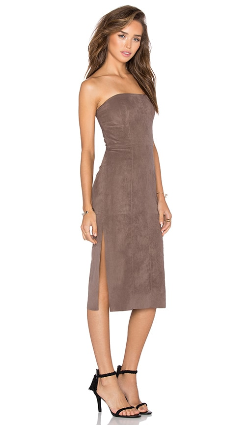 Strapless Suede Dress