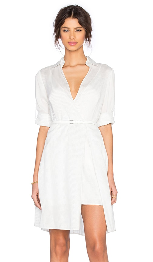 Halston Heritage Shirt Dress in White